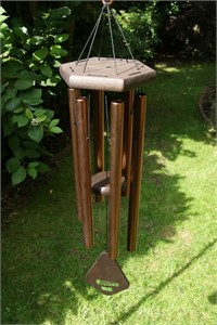 Nature's Melody Wind Chime, 28 inch bronze