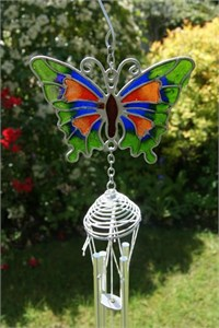 Green Butterfly Wind Chime