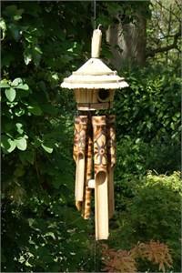 Sendai Birdhouse Wind Chime, decorated