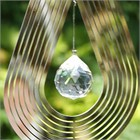 Teardrop Wind Spinner with Crystal
