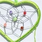 Little Heart Dream Catcher, green