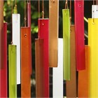 Rectangles Glass Wind Chime, Beech Wood
