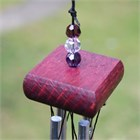 Mini Chime with Crystals, purple