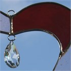 Red Heart Glass Suncatcher with Crystal