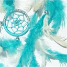 Turquoise and Silver Dream Catcher (16.5 cm)