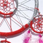 Red and Silver Dream Catcher (16.5 cm)