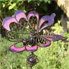 Pink and Purple Butterfly Wind Chime