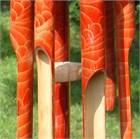 Batu Bamboo Wind Chime, red