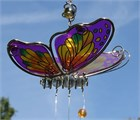 Butterfly with 3 Chimes, purple