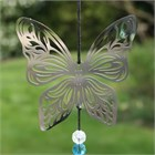 Butterfly Wind Chime with Crystals
