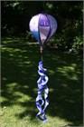 Standard Hot Air Balloon Spinner, Purple Patchwork