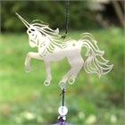 Unicorn Wind Chime with Crystals