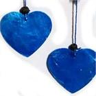 Little Heart Dream Catcher with Capiz, blue