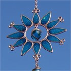 Sunflower Wind Chime, small turquoise