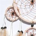 Five Hoops Dream Catcher, Cream (11 cm)