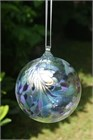 Peacock Feathers Glass Ball, 10 cm