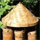 Padi Hat Bamboo Wind Chime, large