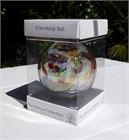 Humming Bird Feathers Glass Ball, 10 cm