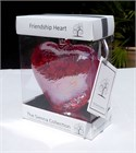 Red Glass Heart, 12 cm