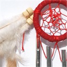Dream Catcher with Chimes, red