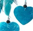 Little Heart Dream Catcher with Capiz, turquoise