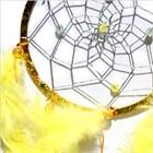 Metallic Hoop Dream Catcher, yellow (11.5 cm)
