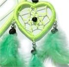 Heart Dream Catcher with Capiz, green