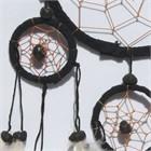 Five Hoops Dream Catcher, black (11 cm)