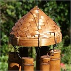 Padi Hat Bamboo Chime, medium