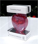 Red Glass Heart, 8 cm