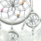 Dream Catcher with Silver Beads, white (11.5 cm)