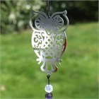 Owl Wind Chime with Crystals