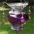 Purple Moroccan Tea Light Lantern
