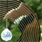 Circular Wind Spinner with Crystal
