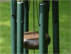 Nature's Melody Wind Chime, 18 inch forest green
