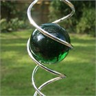 Crystal Vortex with Green Marble
