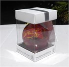 Red-Yellow Glass Ball,  8 cm