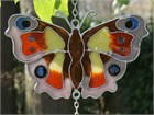 British Butterfly Wind Chime:  Peacock