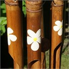 Frangipani Bamboo Wind Chime, medium