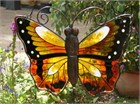 Large Orange Butterfly Wind Chime