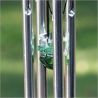 Mini Chime with Crystals, green